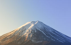 MT fuji closeup on daylight blue sky Royalty Free Stock Photography
