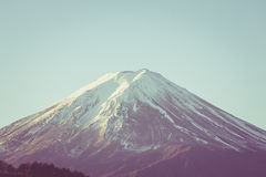 MT fuji closeup retro style Royalty Free Stock Photo