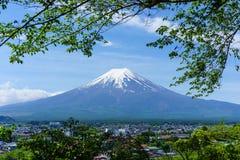 Mt Fuji con cielo blu Immagine Stock