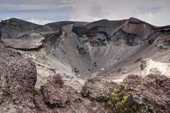 Mt. Fuji crater, Japan. Crater on the top of famous volcano Mt. Fuji, Japan Stock Images