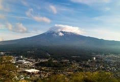 Mt Fuji, das schüchtern ist Lizenzfreies Stockfoto