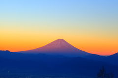 Mt. Fuji at dawn Royalty Free Stock Photo