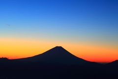 Mt. Fuji at dawn Stock Photos