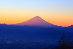 Mt. Fuji at dawn Stock Photography