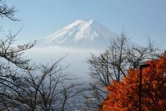 MT Fuji in de herfstseizoen Stock Fotografie