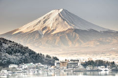 MT Fuji in de vroege ochtend Stock Foto