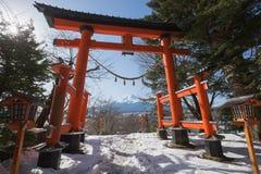 MT Fuji in de winter, Japan royalty-vrije stock foto's