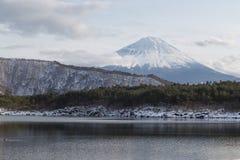 MT Fuji in de winter, Japan stock foto