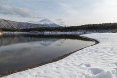 MT Fuji in de winter, Japan stock afbeelding