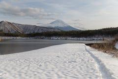 MT Fuji in de winter, Japan stock afbeeldingen