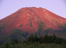 Mt fuji dg-32. The Mt,fuji red fire in summertime Royalty Free Stock Photography