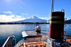 Mt Fuji do lago Kawaguchiko Fotografia de Stock Royalty Free