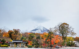 Mt Fuji dopo piovuto Immagini Stock