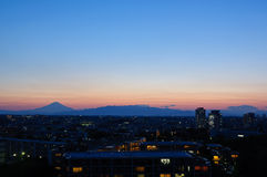 Mt.Fuji at dusk Royalty Free Stock Photos