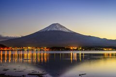 Mt. Fuji at Dusk Stock Photography