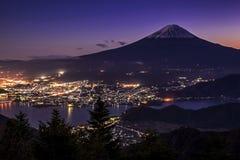 Mt Fuji e Kawaguchiko Fotografia Stock Libera da Diritti