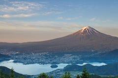 Mt Fuji e kawaguchiko del lago Fotografia Stock Libera da Diritti