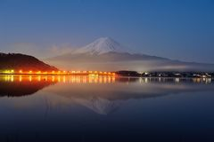 Mt Fuji in the early morning Royalty Free Stock Image