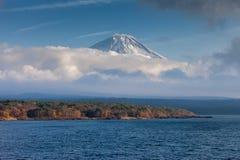 MT Fuji en Meer Motosuko Royalty-vrije Stock Foto