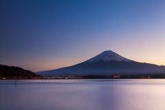 Mt. Fuji at evening Stock Photos