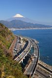Mt. Fuji and Expressway Royalty Free Stock Photo