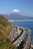 Mt. Fuji and Expressway Stock Image