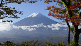 Mt. Fuji with fall colors in Japan Royalty Free Stock Photo