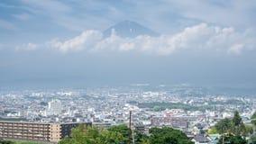 Mt Fuji and Fujinomiya city Time-Lapse stock video footage