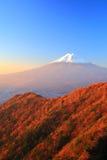 Mt. Fuji glows in the morning sun Stock Photo