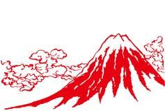 Mt.Fuji. hand drawn illustration. Royalty Free Stock Images