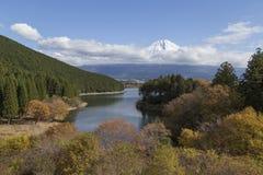 Mt Fuji i hösten, Japan Arkivbild
