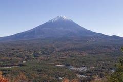 Mt Fuji i hösten, Japan Arkivbilder