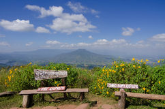 Mt Fuji i Loei, Thailand Arkivfoton
