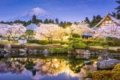 Mt Fuji im Frühjahr lizenzfreies stockfoto