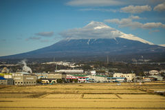 """Mt. Fuji. Japan's Mt. Fuji is an active volcano about 100 kilometers southwest of Tokyo. Commonly called """"Fuji-san,"""" it's the country's tallest peak Royalty Free Stock Photos"""