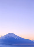 Mt. Fuji, Japan at Lake Kawaguchi. After sunset royalty free stock images