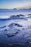Mt. Fuji. Japan seacape coastline and Mt. Fuji in beautiful sunset Royalty Free Stock Photography