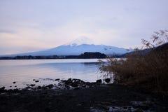 Mt Fuji, jeden najlepszy widok od Jeziornego Kawaguchi Fotografia Stock