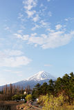Mt fuji at kawaguchi lake side view. Royalty Free Stock Photo