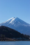 MT fuji kawaguchiko lake on blue sky Stock Images