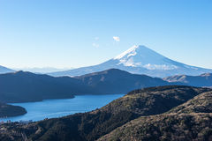 Mt. Fuji and Lake Ashi. In Hakone, Japan. Mt.Fuji is the highest mountain in Japan. It is added to World Heritage List on 2013 Royalty Free Stock Photography