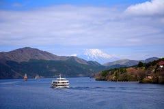 Mt. Fuji and Lake Ashi, Japan Royalty Free Stock Photography