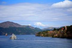 Mt. Fuji and Lake Ashi, Japan Royalty Free Stock Image