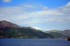 Mt. Fuji and Lake Ashi, Japan Royalty Free Stock Photos