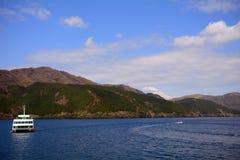 Mt. Fuji and Lake Ashi, Japan Royalty Free Stock Photo