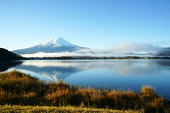 Mt. Fuji and lake in japanese Stock Images