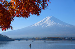 Mt.Fuji and Lake Kawaguchi in autumn Royalty Free Stock Photography