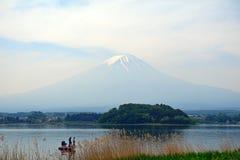 Mt. Fuji, Lake Kawaguchi, Japan. Mt. Fuji in Lake Kawaguchi, Japan royalty free stock photos