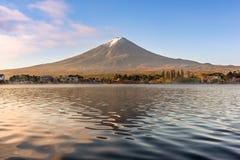 Mt. Fuji on Lake Kawaguchi Stock Images