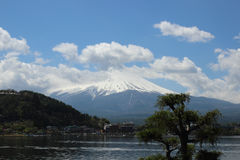 Mt.Fuji at Lake Kawaguchi Royalty Free Stock Photo
